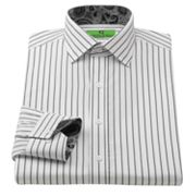 Bristol and Bull Classic-Fit Striped Contrast-Cuff Spread-Collar Dress Shirt