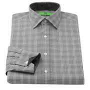 Bristol and Bull Classic-Fit Plaid Contrast-Cuff Spread-Collar Dress Shirt