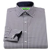 Bristol and Bull Classic-Fit Checked Contrast-Cuff Spread-Collar Dress Shirt