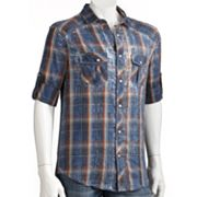 Helix Button-Down Plaid Shirt - Men