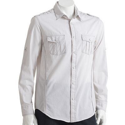 Helix Woven Button-Down Shirt - Men