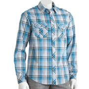 Helix Woven Plaid Button-Down Shirt - Men