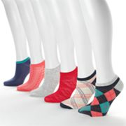 SONOMA life and style 6-pk. Retro Argyle No-Show Socks