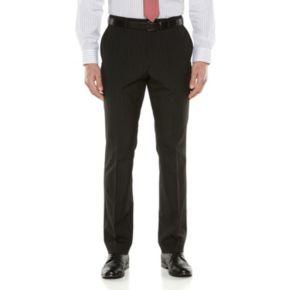 Big & Tall Savile Row Striped Black Suit Pants