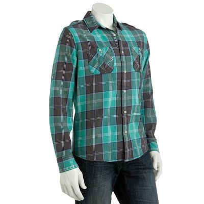 Urban Pipeline Plaid Oxford Shirt - Men