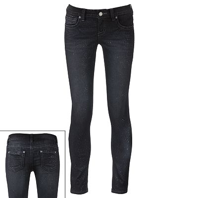 Wallflower Glitter Skinny Jeans - Juniors