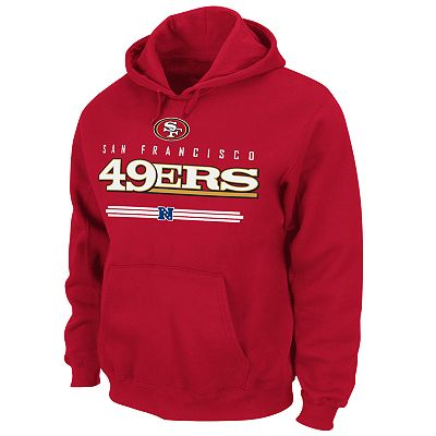 San Francisco 49ers Pullover Fleece Hoodie - Big and Tall