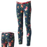Wallflower Floral Skinny Jeans - Juniors