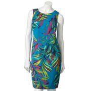 212 Collection Leaf Sheath Dress