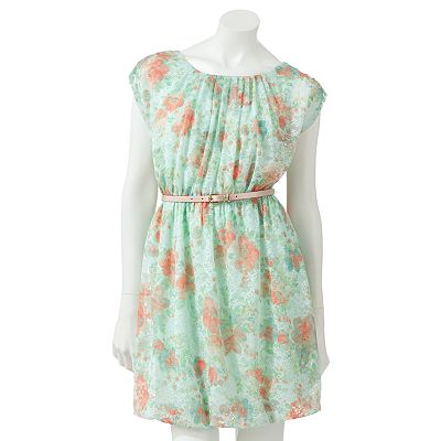 Candie's Floral Lace Bubble Dress - Juniors