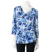 Dana Buchman Watercolor Drapeneck Top