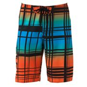 Hang Ten Plaid Board Shorts - Men
