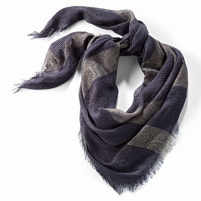 Simply Vera Vera Wang Basket-Weave Metallic Scarf