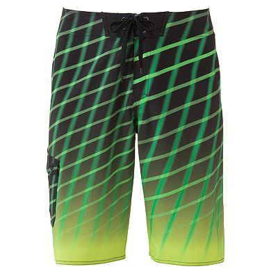 Hang Ten Optic Striped Stretch Board Shorts - Men
