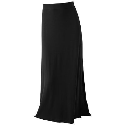 Apt. 9 Solid Pull-On Maxi Skirt - Petite