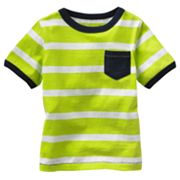 Jumping Beans Striped Pocket Tee - Baby