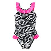 Jumping Beans Zebra One-Piece Swimsuit - Toddler
