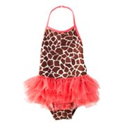 Jumping Beans Giraffe Halter Tutu One-Piece Swimsuit - Toddler