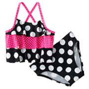 Jumping Beans Polka-Dot 2-pc. Tankini Swimsuit Set- Toddler