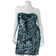 Lily Rose Sequin Tube Dress - Juniors' Plus