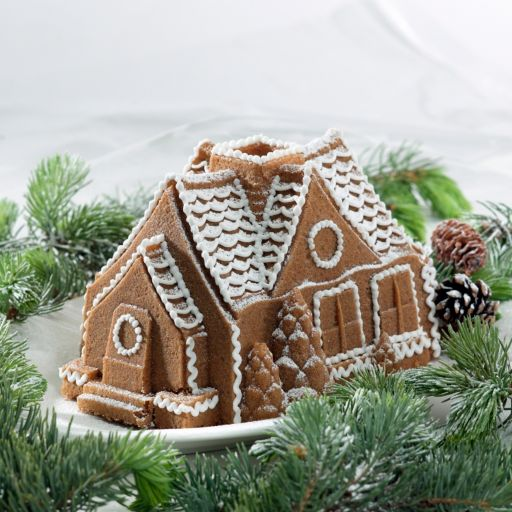 Nordic Ware Gingerbread House Bundt Cake Pan
