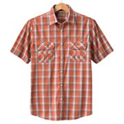 SONOMA life + style Plaid Military Casual Button-Down Shirt