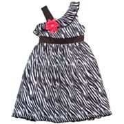 Rare Editions Asymmetrical Zebra Dress - Girls 4-6x