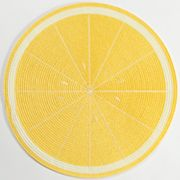 Croft and Barrow Lemon Round Placemat