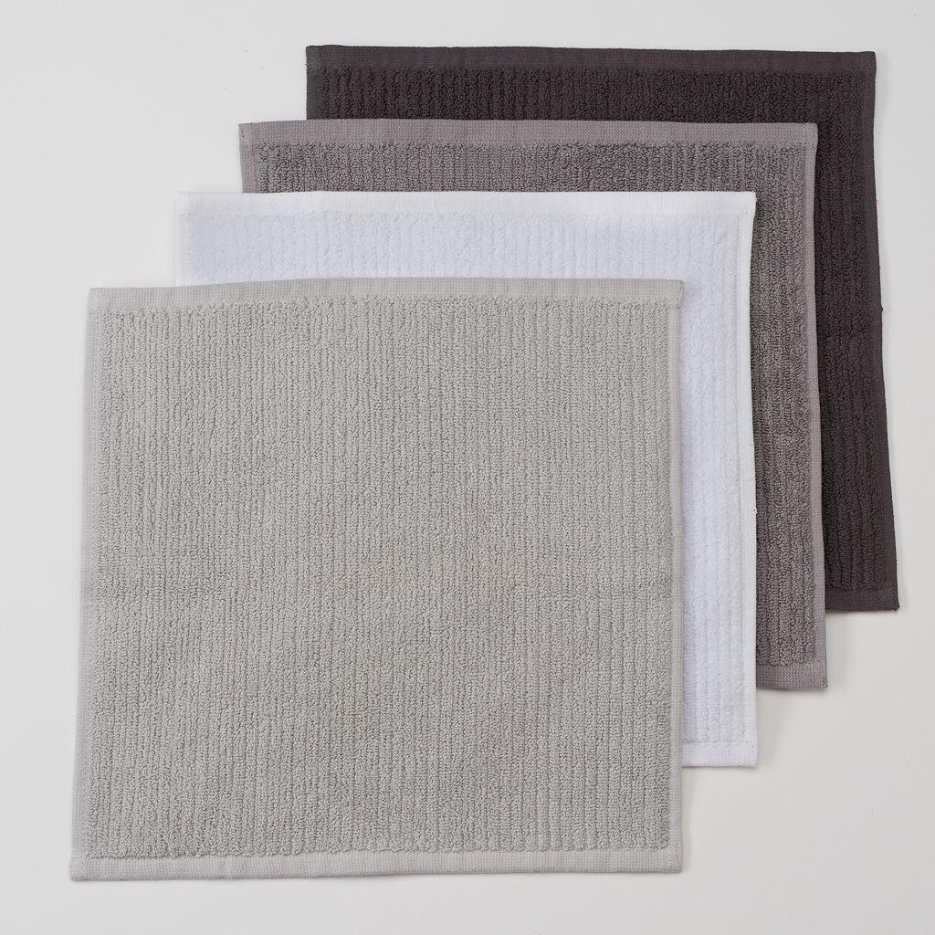 Food Network™ Solid 4-pk. Bar Mop Dishcloths