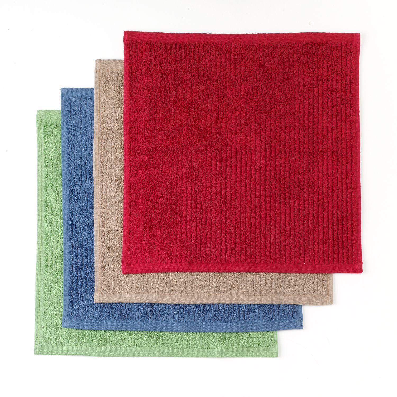 Food Network™ Solid 4 Pk. Bar Mop Dishcloths