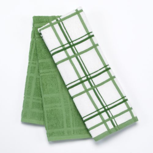 Food Network™ Plaid 2-pk. Antimicrobial Kitchen Towels
