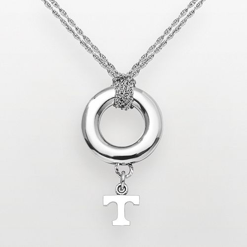 University of Tennessee Volunteers Sterling Silver Halo Pendant