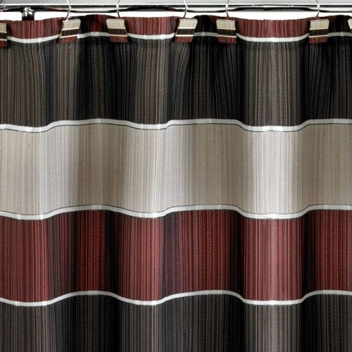 Popular Bath Modern Line Fabric Shower Curtain