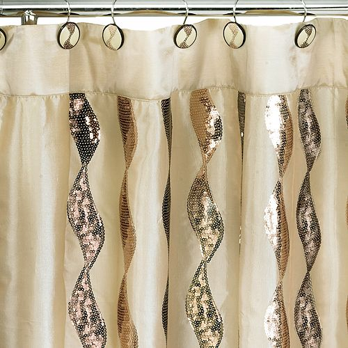 Popular Bath Shimmer Fabric Shower Curtain
