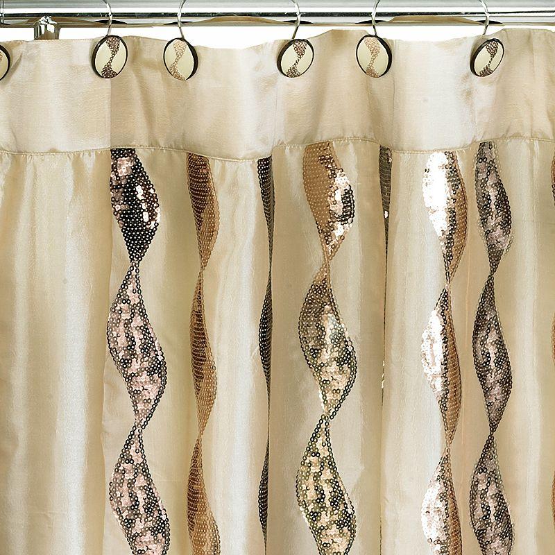 Popular Bath Shimmer Fabric Shower Curtain, Yellow