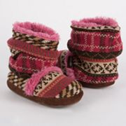 MUK LUKS Ruthie Faux-Fur Scrunch Bootie Slippers - Girls