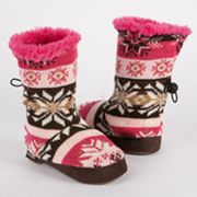 MUK LUKS Nordic Toggle Bootie Slippers - Girls