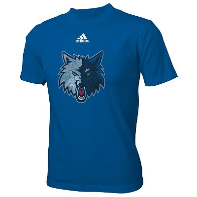 adidas Minnesota Timberwolves Distressed Logo Tee - Boys 8-20