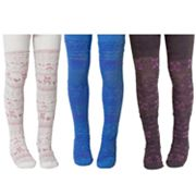 MUK LUKS 3-pk. Patterned Microfiber Tights - Girls
