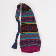 MUK LUKS Floral Fairisle Stocking Hat - Girls