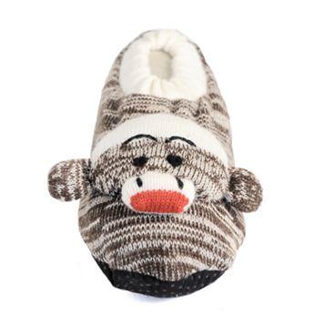 Girls MUK LUKS Sock Monkey Slippers