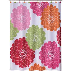 Allure Home Creations Stella Fabric Shower Curtain