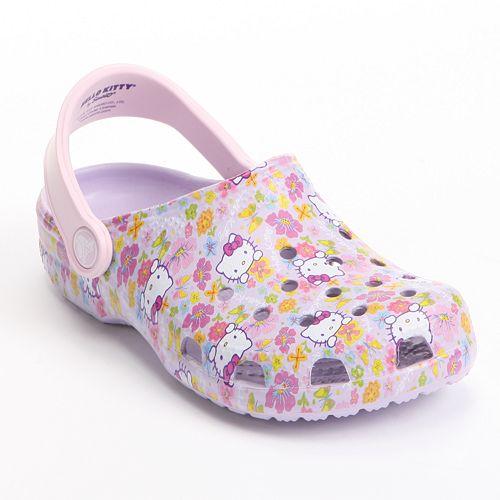on sale 96178 bc856 Crocs Hello Kitty Classic Clogs - Girls
