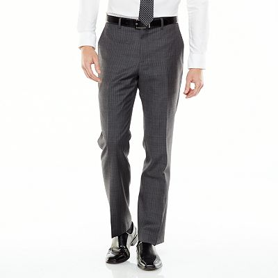 Marc Anthony Pinstripe Flat-Front Suit Pants