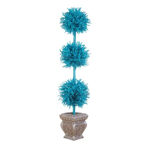 Sterling 5-ft. Pre-Lit Potted Blue Tinsel Tree
