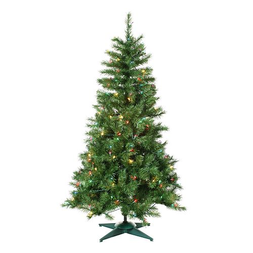 - Sterling 4-ft. Colorado Spruce Pre-Lit Artificial Christmas Tree