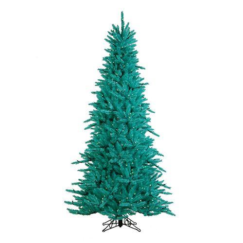 Sterling 7 1/2-ft. Teal Fir Pre-Lit Artificial Christmas Tree