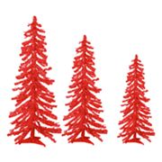 Sterling 3-pc. Alpine Pre-Lit Tinsel Christmas Tree Set