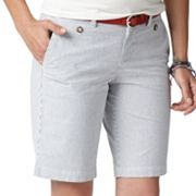 Dockers Slimming Striped Twill Bermuda Shorts
