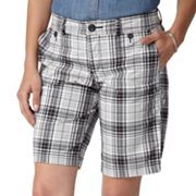 Dockers Slimming Plaid Twill Bermuda Shorts